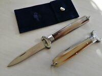 Coltello Tradizionale Sfilato Caccia corno autentico couteau navaja knife messer