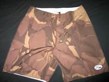 Quiksilver Edition Rip Stop men Camouflage brown board casual shorts Camo. 34