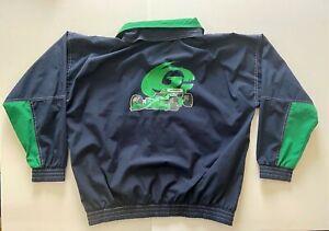 Vintage 90's Team Kool Green Speedgear Mens XL Pullover Rain Jacket w/ Hood Indy