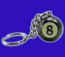 Miniature 8-Ball Keychain - Eight-Ball Pool Ball Keychain