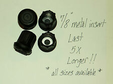 """(4) 7/8"""" HEAVY RUBBER CANE TIPS, CRUTCHES, WALKERS, METAL INSERT LAST 5X LONGER"""