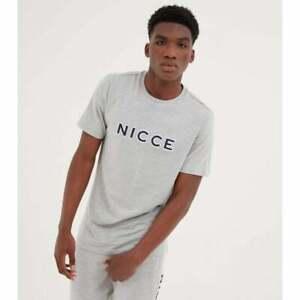 Nicce Mens T-Shirt Grey Marl Truman Regular Fit Tee Tee Crew Neck Cotton T Shirt