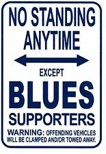 NRL State of Origin NSW Blues No Standing Except Blues Supporters Sign Poster