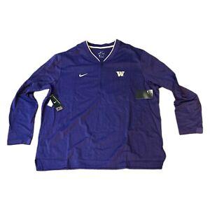 NWT NEW Washington Huskies Nike Men's 1/4 Zip Coaches Sideline Jacket Medium