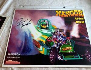 "DRAG RACING 8X10 COLOR PHOTO RICK HOUGH ""NANOOK"" AA/FUEL SIGNED  N 19"