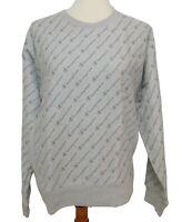 Champion Women's Large Sweatshirt Reverse Weave Crew Logo Gray Long Sleeve