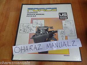 Force Outboard Motors 9.9 / 15 HP Service Manual  OB4268A