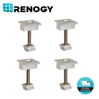 Renogy Solar Panel Mounting Mid Clamp for 1.57In Frame Thickness 4pcs Set