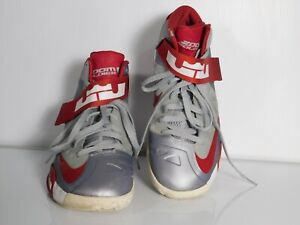 Nike Zoom Soldier Men's Shoes IV Lebron James Gray Red Size 9.5 525017-003