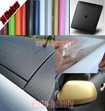 Optional - Car 3D Carbon Fiber Vinyl Wrap Sheet Sticker Film Decal - 13 Colours