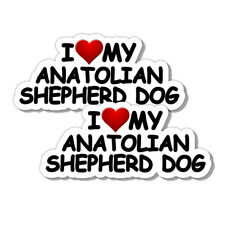 Anatolian Shepherd Dog I Love My Shepherd Dog Dog Decal Dog Truck Pooch Sticker