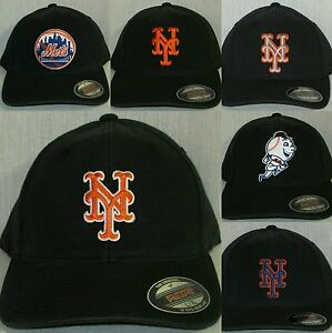 """New York Mets """"FLEX FIT"""" Cap ⚾Hat ⚾CLASSIC MLB PATCH/LOGO ⚾2 Sizes ⚾6 Styles⚾NEW"""