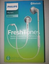 Philips SHB5250WT Wireless Bluetooth Earphones with Microphone, Volume Control,