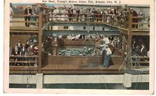 Postcard NJ Atlantic City Net Haul Youngs Million Dollar Pier 1929