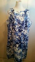 Van heusen size 16 sleeveless knee length Dress floral blue NWT'S $99