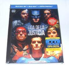 LIGA DE LA JUSTICIA 3D BLU-RAY PRECINTADA STEELBOOK ED.LENTICULAR JUSTICE LEAGUE