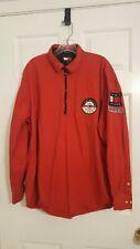 Vintage Tommy Hilfiger Olympics Alpine Zipper Shirt Red size Xl Th 042 11th Div.