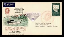 DR WHO 1963 AUSTRALIA FIRST HOVERCRAFT MAIL MELBOURNE  C215150