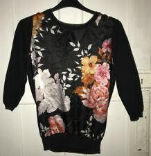 M & Co Size 16 Ladies Flowery Jumper