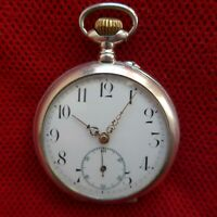 Hombre Reloj de Bolsillo, Zylindergang, 6 Piedras, Buena Función, Aprox. 1915