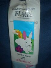 "NEW Garden Bunny Rabbit outdoor Decorative Flag 28"" x 42"" Go fly a kite 9114"
