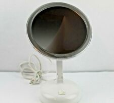 "9"" LED Light Up Make-Up Mirror Magnification Adjustable White Vanity Tabletop"