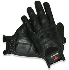 Men's Premium Leather Biker Police Style Perforated Leather Gloves