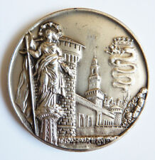 COMUNE DI MILANO médaille ARGENT massif Italie Milan Poids : 43 g silver