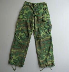 Vintage Vietnam Era ERDL Cargo Pants Camouflage Tropical Jungle Camo Military