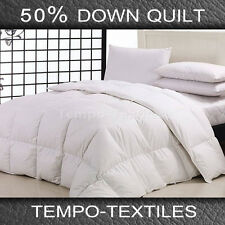 QUEEN 50% White Duck Down 50% Feather Quilt/Doona/Comforter*330TC Cotton Cover