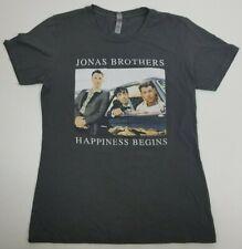 Women's Jonas Brothers Happiness Begins Short Sleeve T-Shirt - Size L - Grey