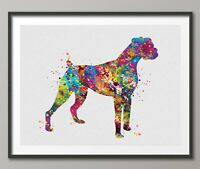 Boxer Dog, Watercolor Print, Doglover gift, Animal Print, Dog Art-1503