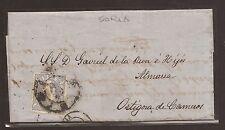 1870 Carta envoltorio a Ortigosa de Cameros de Soria Edifil 107 VC 10,50€