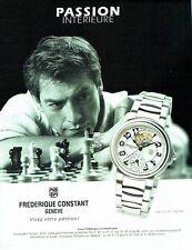 Publicité Advertising  2001  montre homme  highlife Frederique Constant