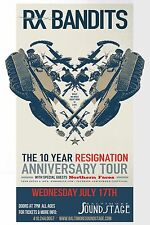 "Rx Bandits ""10 Year Resignation Anniversary Tour"" 2013 Baltimore Concert Poster"