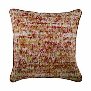 Decorative 16x16 inch Red Pillowcase Cover, Jacquard Striped - Foiled Red Decor