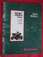 "1992 DEUTZ ALLIS MODEL 512G, 36"" CUT LAWN TRACTOR & DECK PARTS MANUAL"