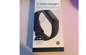Fitbit Charge 4 Black, Small & Large Bands # FB417BKBK  NEW IN BOX Free Shippng