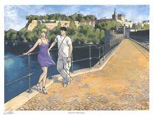 Ex-libris Offset Gil Saint André Le pont d'Avignon