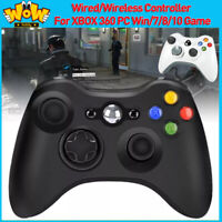 Wired/Wireless Bluetooth Controller Gamepad For XBOX 360 PC WIN/7/8/10 Joypad US