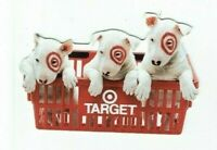 Target Gift Card Die-Cut Bullseye Dogs in Basket - 2004 - No Value - I Combine