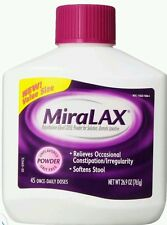 2x MiraLAX 45 Once-Daily Doses Unflavored (Lot of 2) 90 Doses Total