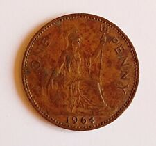 1964 UK/British Penny Coin - Elizabeth II