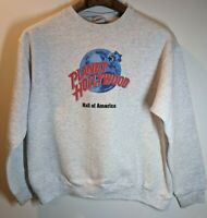 Vintage 90s Planet Hollywood Sweatshirt Crewneck Grey Mall of America Size L