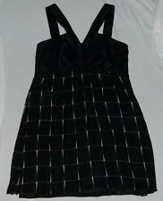Express Women's Black White Dress Sheer Overlay Empire Waist Party sleeveless L