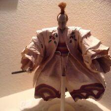 JAPANESE 14'' Paper and porcelain KABUKI OKINA DANCER DOLL