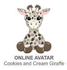 Webkinz Classic Cookies and Cream Giraffe *Code Only*