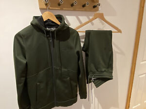 Mens Green Under Armour Tracksuit Size Small