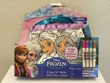 Disney FROZEN Color N' Style Fashion Purse Activity NEW - Elsa & Anna