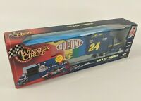NASCAR Winners Circle Team Transporter : Race 'N Play : DuPont #24 Jeff Gordon